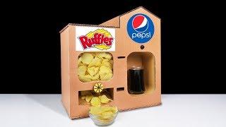 DIY How to Make Ruffles Chips Vending Machine and Pepsi Fountain Machine