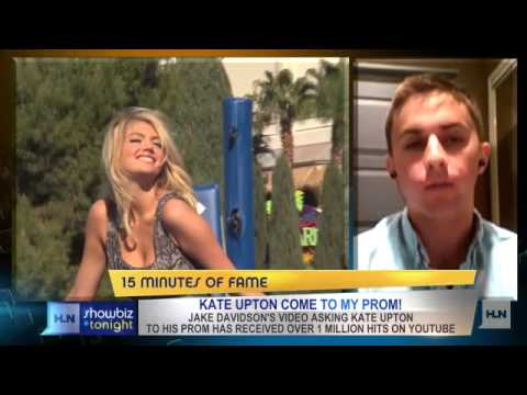 Did Kate Upton turn down Jake Davidson's prom request?
