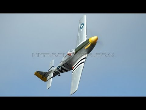 New Dynam 1200mm P-51 w/ Retracts Review