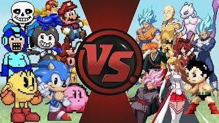 Video Games vs Anime Animation (Undertale, Mario & Sonic vs Goku, One Punch Man & More) Anime Rewind