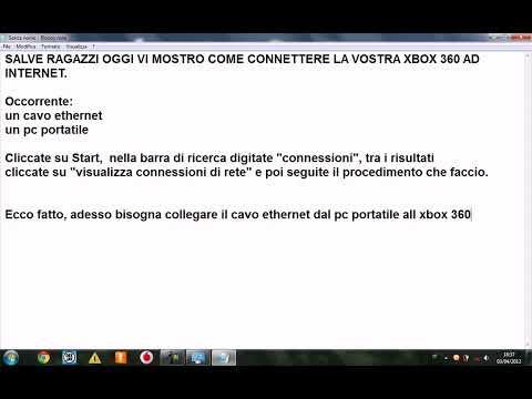 Connettere Xbox 360 ad internet