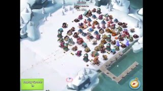 Boom Beach — Attacking hot ice boosted bases with sumeru*123 and kenetic, HZ