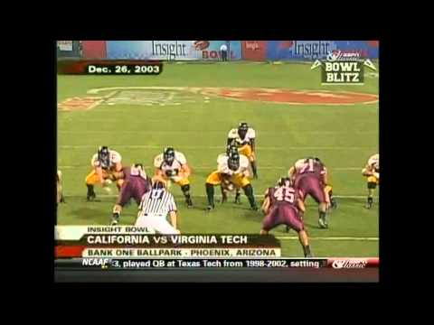 Aaron Rodgers QB (California/Green Bay Packers) vs Virginia Tech 2003