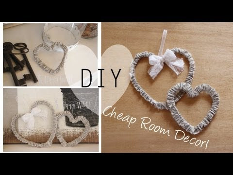 DIY: Cheap Room Decor / Decorazione a Basso Costo - YouTube