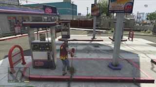 GTA 5- GAS STATION EXPLOSION!!
