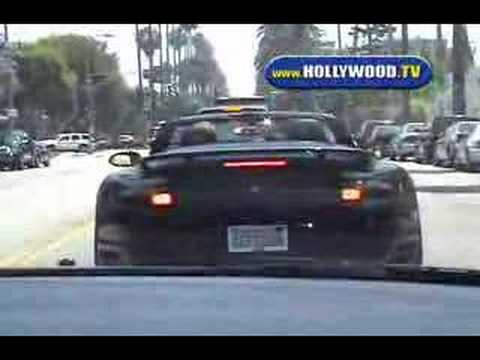 David Beckham Out Driving