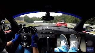 Nordschleife Highlights Fast Lap Heel & Toe View BMW Z4M Coupe DutchRingRacing