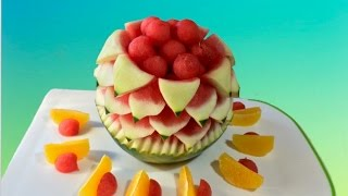 HOW TO MAKE WATERMELON SLICES by J. Pereira Art Carving Fruit