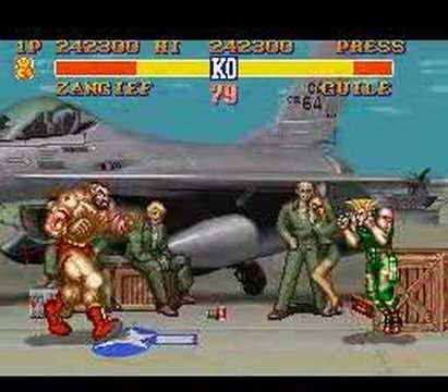 Zangief vs Guile - Street Fighter II - SNES