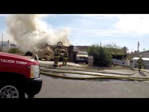 Lake Havasu City, AZ - Housefire on Stingray Lane