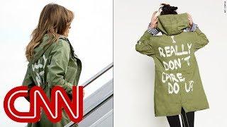 Melania Trump dons jacket saying 'I really don't care. Do U?'