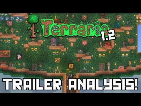 Terraria 1.2 Gameplay Trailer In-Depth Analysis! (NEW Bosses. Weapons. Pets. Armor. and MORE!)
