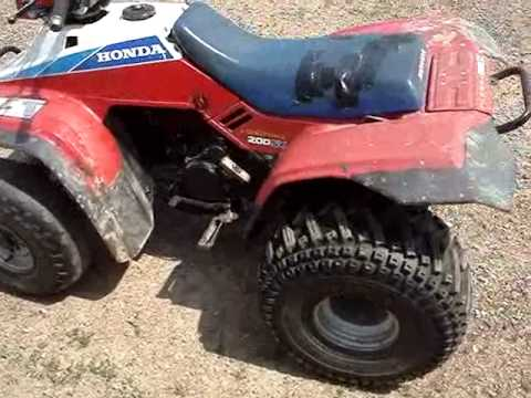 Fixing a 1986 Honda 200sx atv and doing some riding