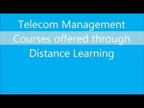 Telecom Management courses through distance education in India