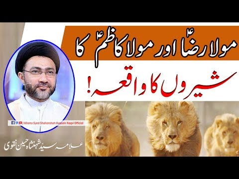Mola Ali Raza a.s Aur Mola Moosa Kazim a.s ka Shero ka Waqia by Allama Syed Shahenshah Hussain