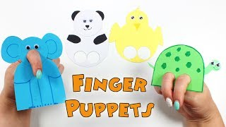 DIY Finger Puppets | How To Make Finger Puppets For Kids