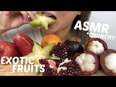 EXOTIC FRUITS | ASMR *NO Talking Crunchy Eating Sounds | N.E Let's Eat