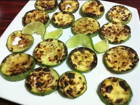 Receta de Calabacitas asadas, facil, rapido y muy ricas - Comida vegetariana