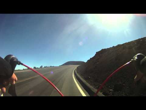 Cycling Up Haleakala Crater in Maui Hawaii - Descending Haleakala GoPro Video