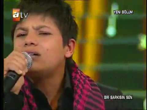 Kurdish boy singing in Turkish