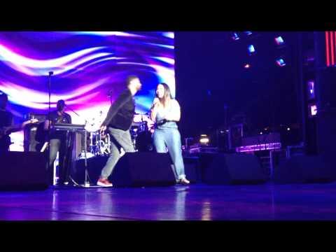 Gospel Singer Erica Campbell Sings with Eric Benet