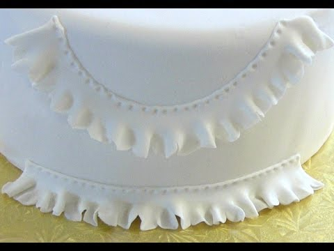How to Make Fondant Ruffles - Fondant Frills
