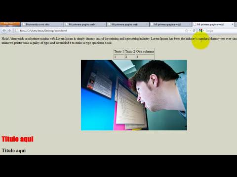 Como crear una pagina web completa en HTML - 2