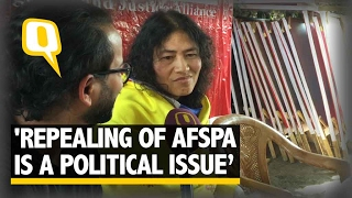 The Quint: Irom Sharmila on PRJA Party and How AFSPA Needs a Political Fight