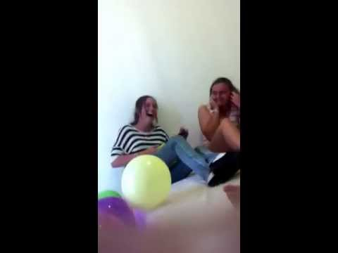 Girls Reaction To Balloon Popping Lol video