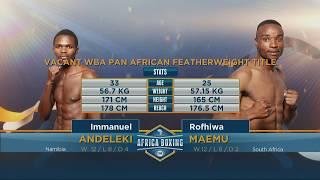 Immanuel Andeleki v  Rofhiwa Maemu | Fox Africa Boxing Championships
