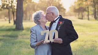 A Couple Married For 70 Years Takes Wedding Photos For The First Time VideoMp4Mp3.Com