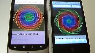 [Canvas vs Flash] Graphic Performance (Nexus One / iPhone4)