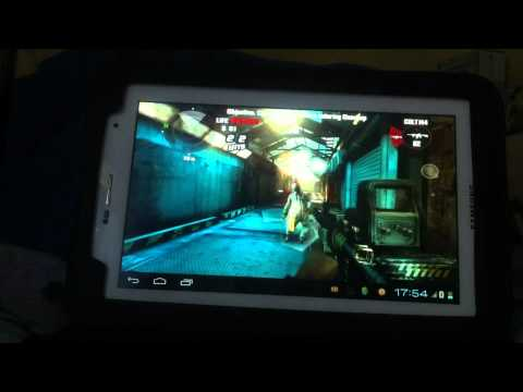 Samsung Galaxy Tab 2 7.0 Dead Trigger gameplay