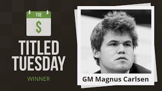 Titled Tuesday Blitz Chess Tournament: Magnus Carlsen Dominates!