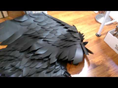Как сделать крылья малефисенты своими руками