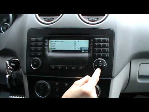 Mercedes ML small COMAND system with original sound system Review and Full in Depth tour