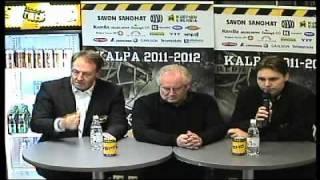 KalPa-Kärpät ottelun lehdistötilaisuus 21.10.2011