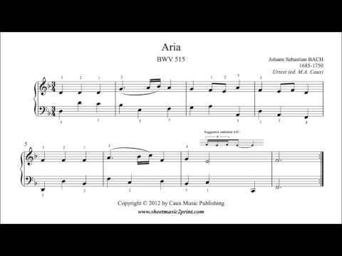 Бах Иоганн Себастьян - Aria In D Minor Bwv Anh 515 The Enlightening Thoughts Of A Tobacco Smoker