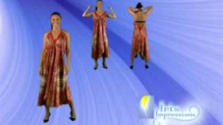 Convertible Scarf Dress Demo by Iris Impressions