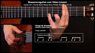 Chega De Saudade Bossa Nova Guitar Lesson 11 Partido Alto Phrase