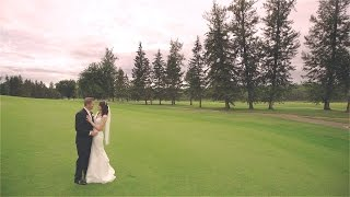 Funny, touching personal vows {Canada wedding film}