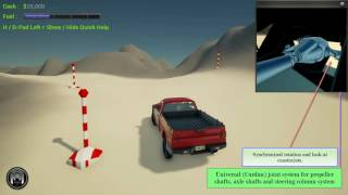 Advanced vehicle animation system in Unreal Engine 4