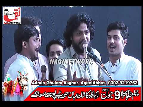 Zakir Husnain Raza Sanwal  9 June 2019 Majlis e Aza Habib Pura Kamoke Gujranwala