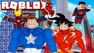 BATALHA DE SUPER HERÓIS NO ROBLOX! (Superhero Simulator)