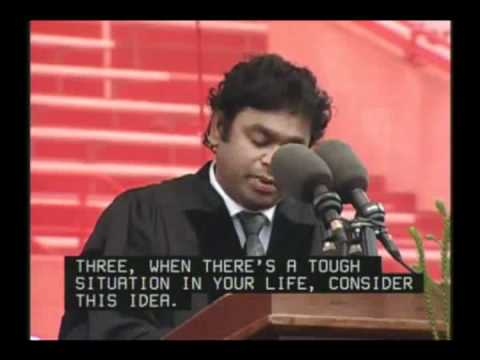 A.r.rahman's Speech At Miami University 2012 | Rahman 360º video