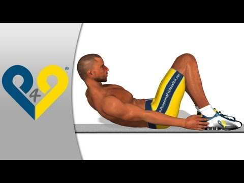 Abdominal oblique exercice - ab workout: Foot to Foot crunch ( oblique crunches )