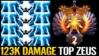 TOP MMR 200 IQ Zeus Player in 10k mmr Ranked Dota 2 Epic Skill by NoOne
