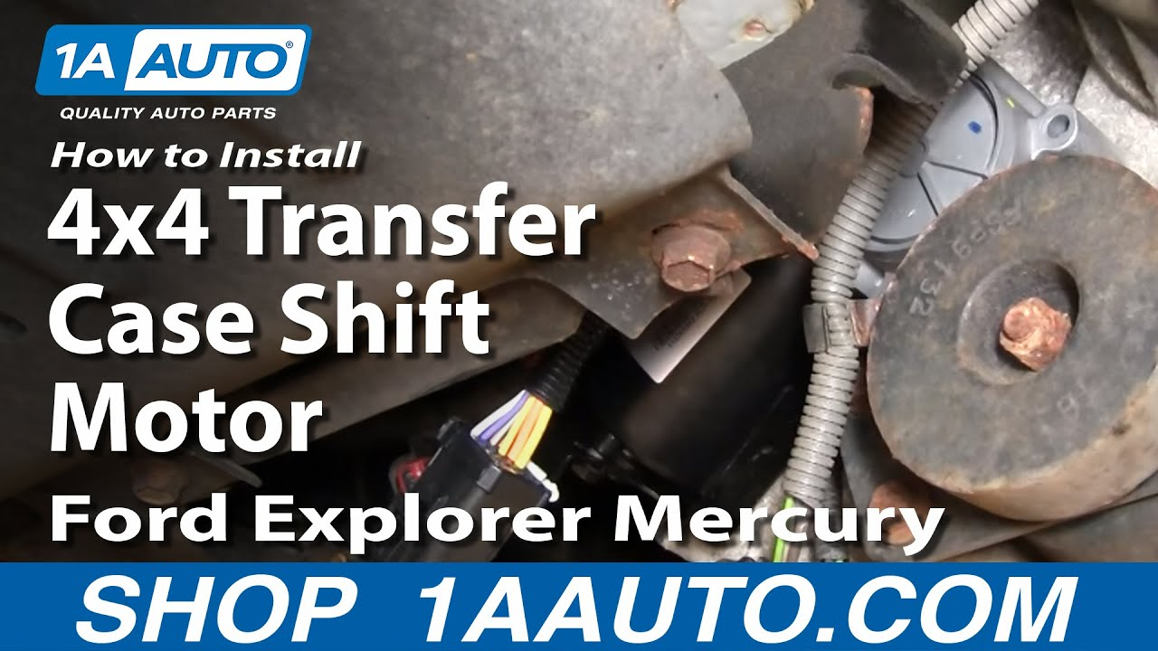 How to install replace 4x4 transfer case shift motor ford explorer mercury mountaineer 95 01