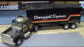 70's NyLint Semi Truck Restoration & Custom (graphics and LED lights)