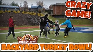 MASSIVE BACK YARD TACKLE FOOTBALL TURKEY BOWL!! (Best Game Yet!)